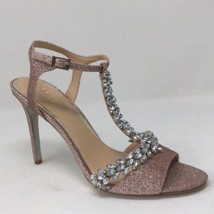 Badgley Mischka Jewel Heels Pumps Pink Glitter 8